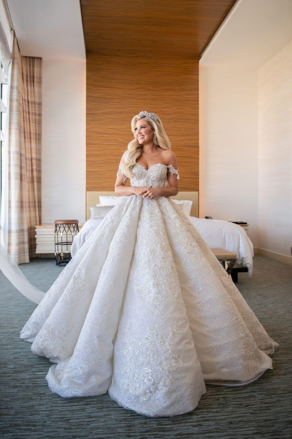 Bride wears huge galia lahav ballgown at Aria Hotel for Las vegas ...