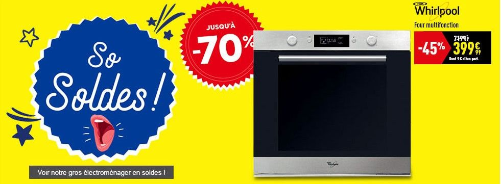 Soldes Four Conforama Four Multifonction Pyrolyse Whirlpool