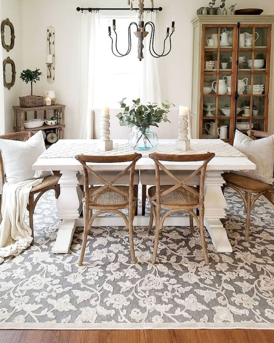 60 Lasting Farmhouse Dining Room Makeover Decor
