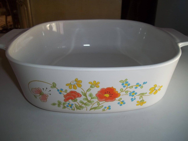 Spring Bouquet AKA Wildflower, Corning Ware A-2-B, 2 Quart Casserole Dish #dishware