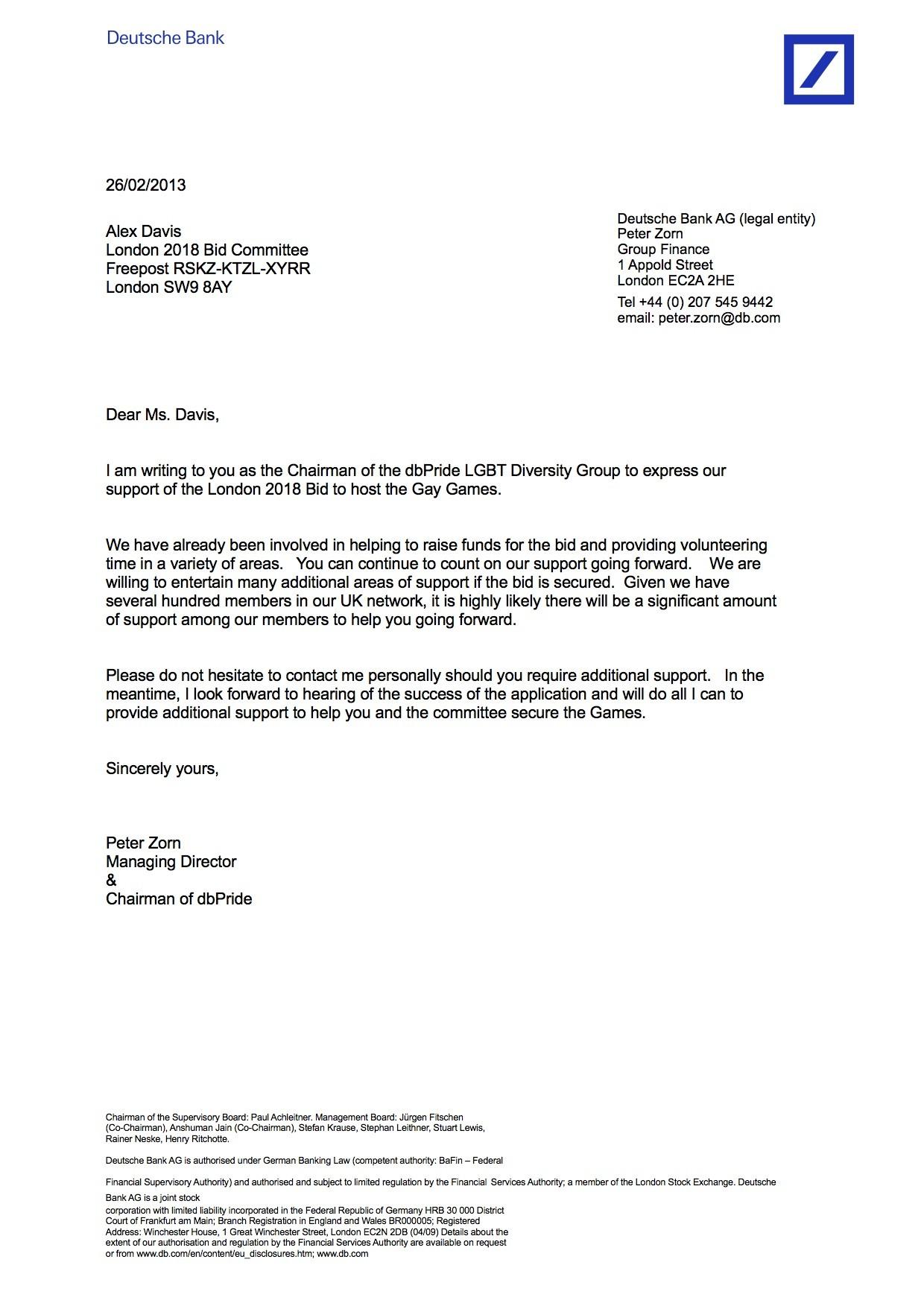 Deutsche Bank Letterhead Sample Google Search Letterhead Sample Letterhead Finance