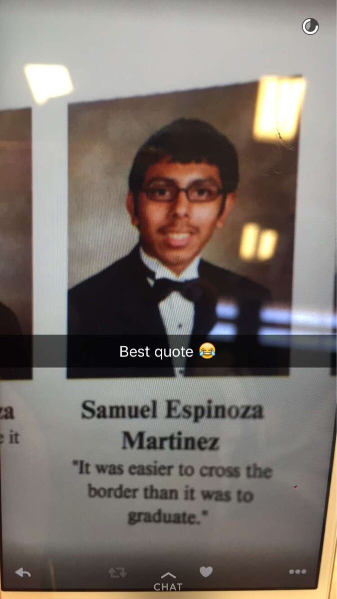 "Senior Yearbook Quotes Entrancing Senior Yearbook Quote ""it Was Easier To Cross The Border Than To"