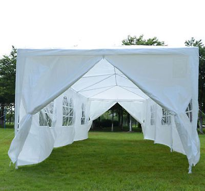 Wedding Tent Gazebo 10x30 Outsunny Outdoor Party Canopy With Side Walls Tent White Canopy Tent Party Tent