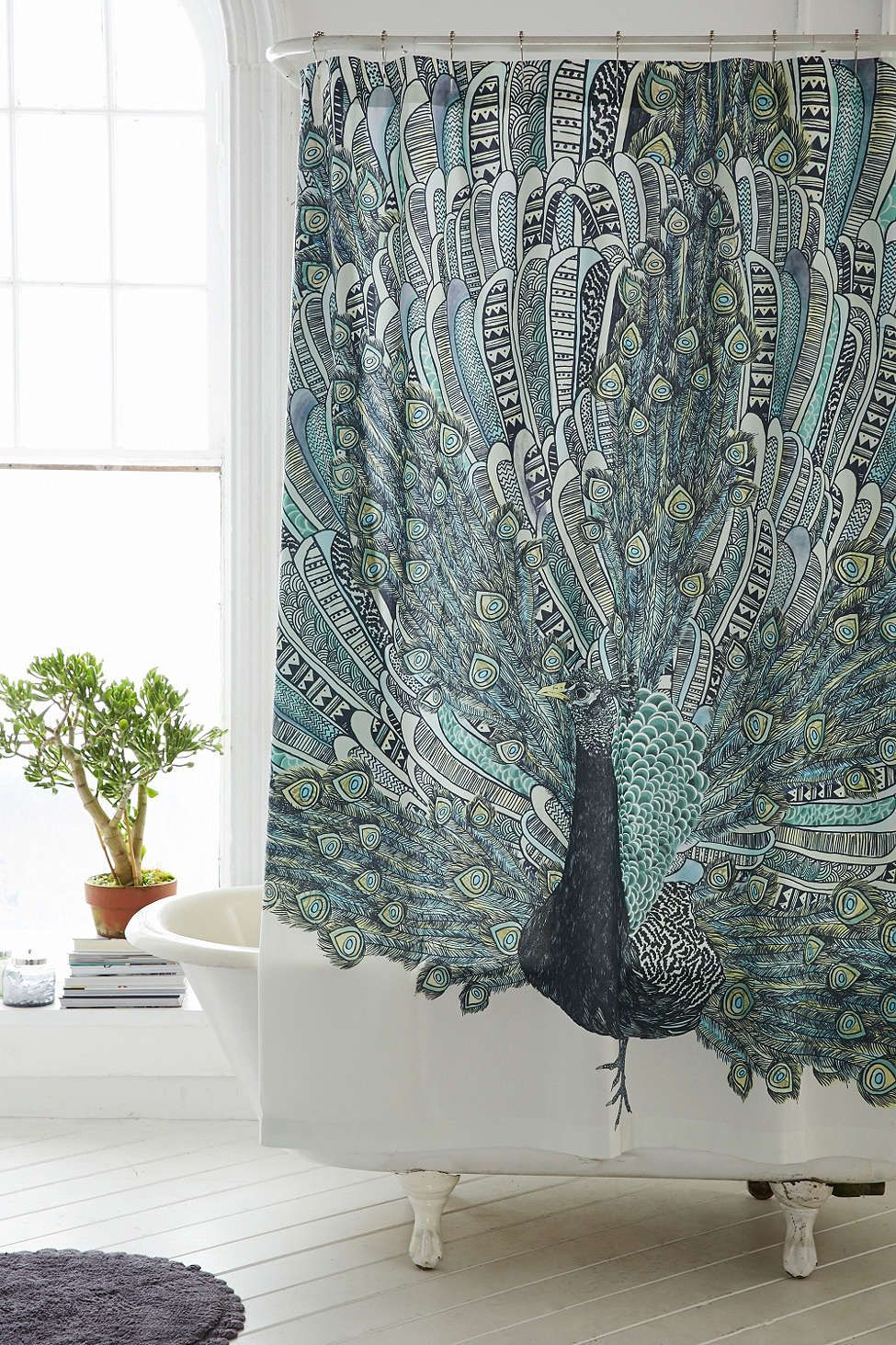 Magical Thinking Pavo Peacock Shower Curtain