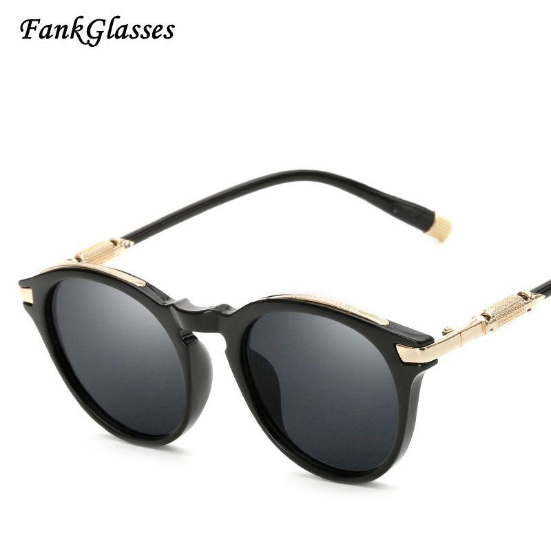 15f02c0314baf FankGlasses 2017 New Fashion Sunglasses Brand Designer Womens Vintage Flat  Lens UV400 Men Sun Glasses Oculos
