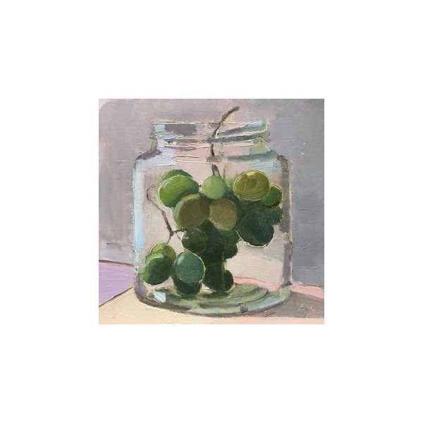 Concord Grapes Original Oil Painting ❤ Liked On Polyvore Featuring Home, Home  Decor, Wall