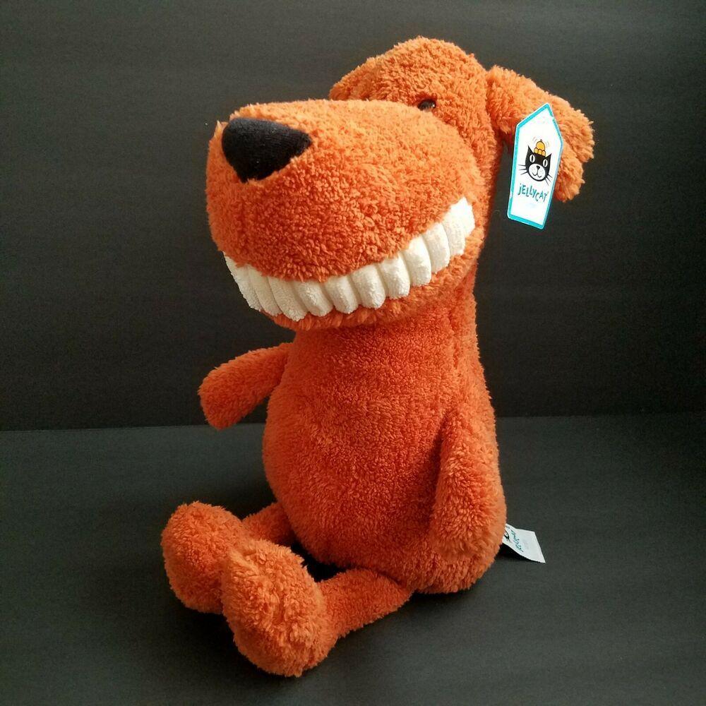 Jellycat Toothy Mutt Puppy Dog Orange Plush Stuffed Toy 15