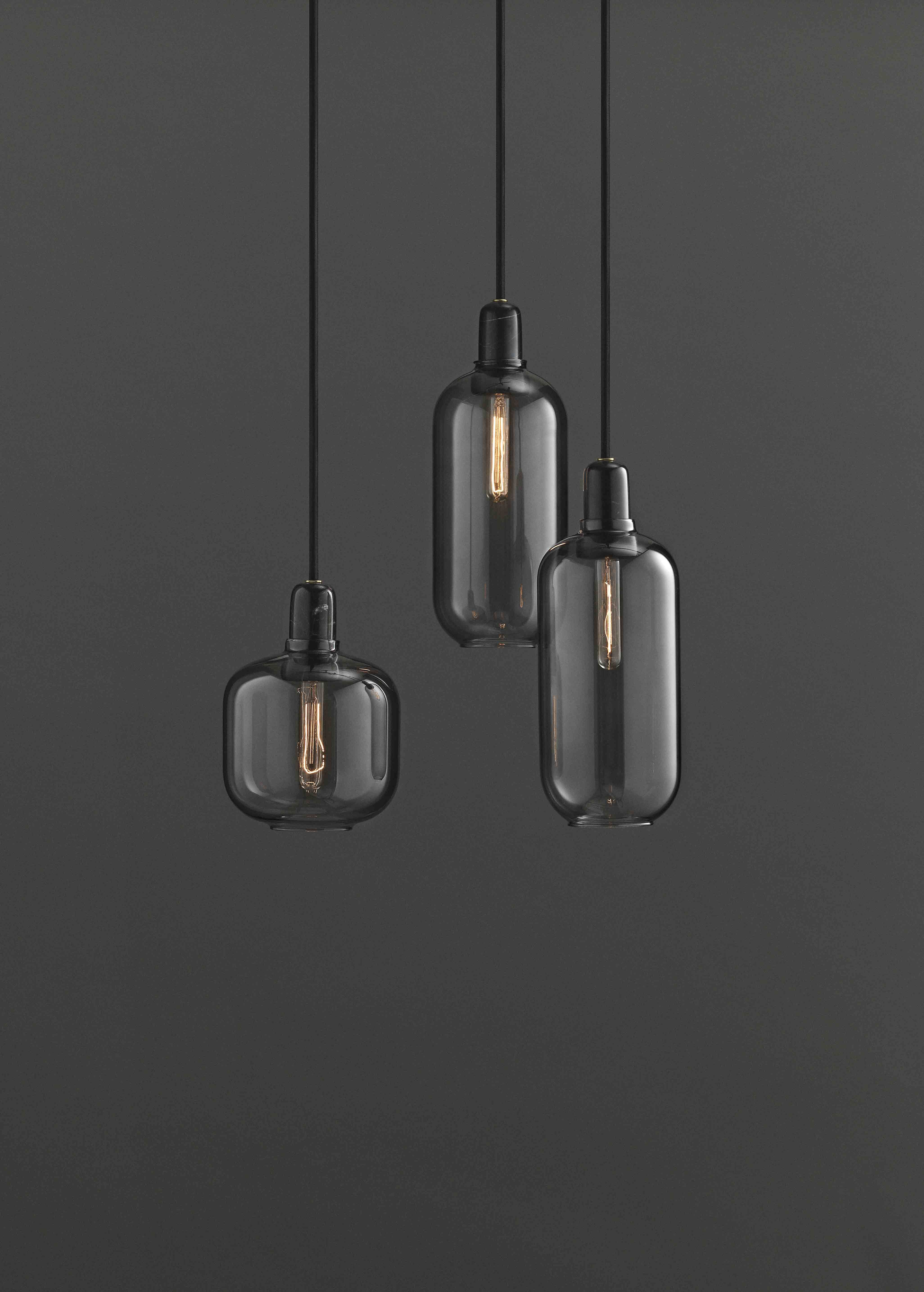 Normann Copenhagen Amp Pendant Lamp Eu Large Pendant Lamp Black Lamps Lamp