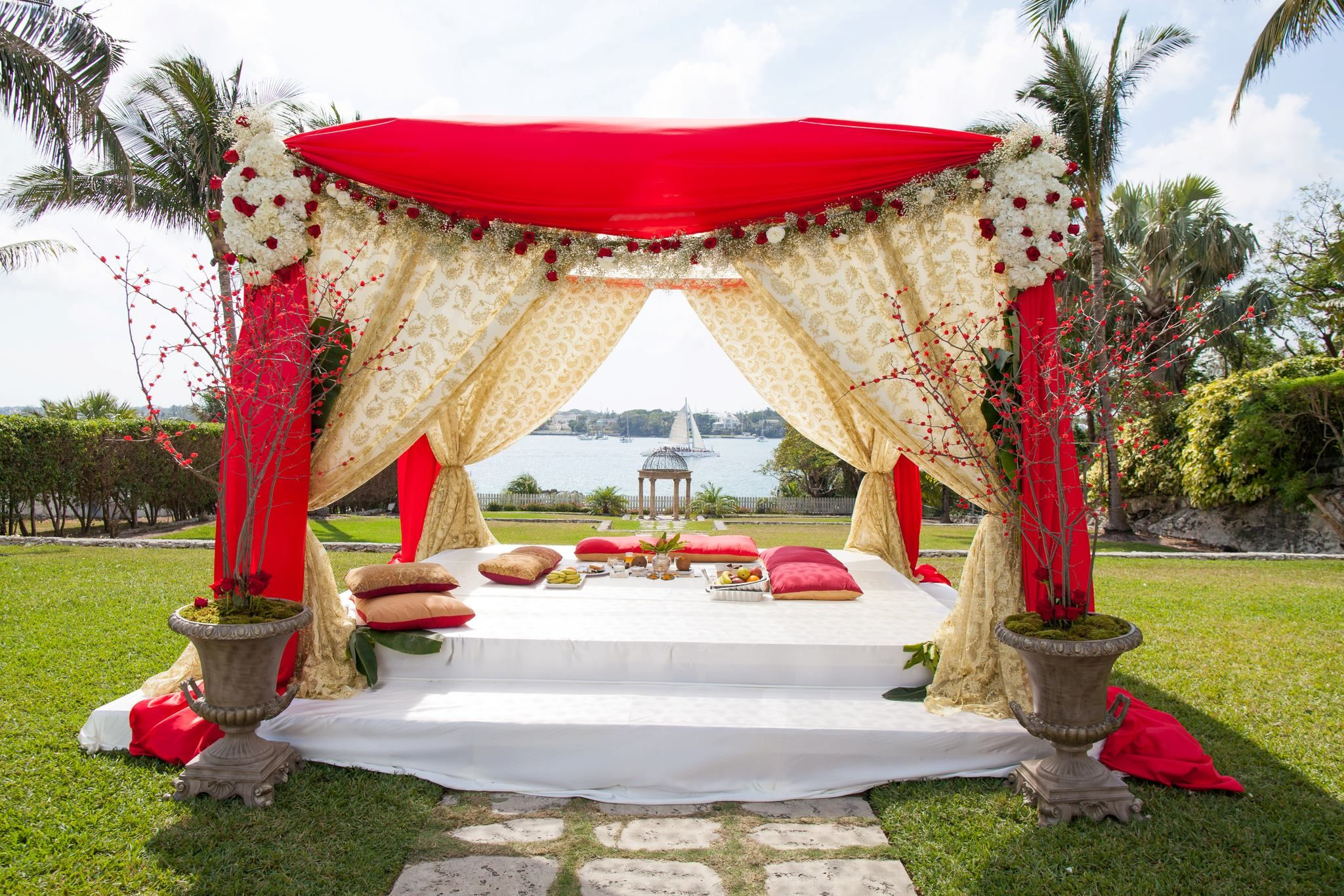 outdoor indian wedding decorations Google Search