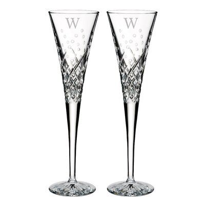 Waterford Wishes 5 oz. Crystal Flute Letter: W