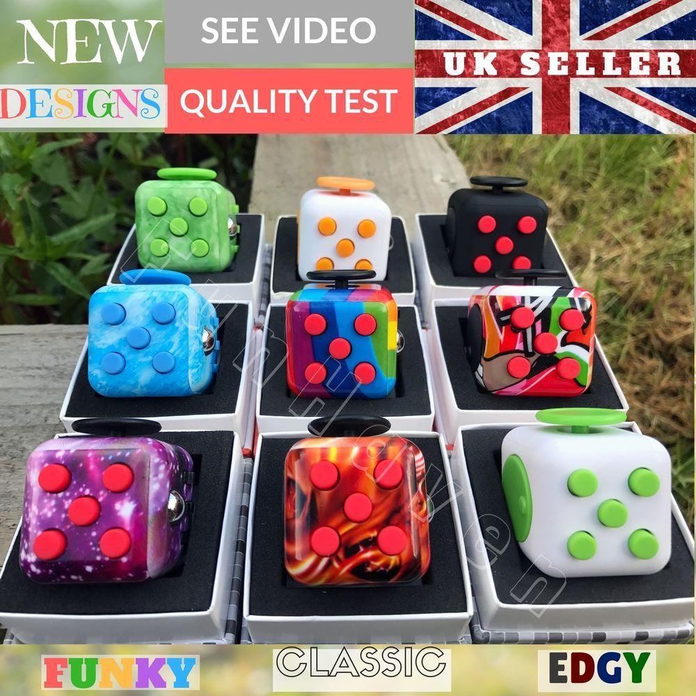 Figit Fiddle Cube Fidget Box Fidgit Desk Toys Figet Cubes Adult Kid Children Uk Fiddle Cube Desk Toys Kids Gadgets