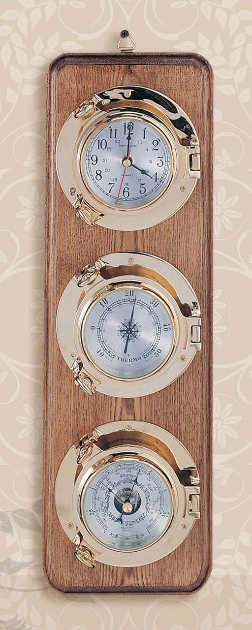 Premium Porthole Clock Barometer And