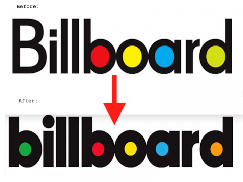 Billboard S Brand New Logo While The Change Isn T Too Drastic The Chart Happy Publication Followed A Recent Logo Trend And Deci Logos Billboard School Logos