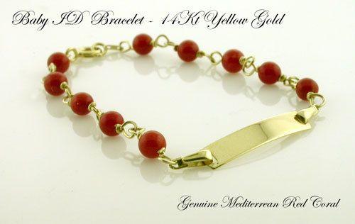14kt Red C Baby Id Gift Bracelet By Silara On Etsy 119 95