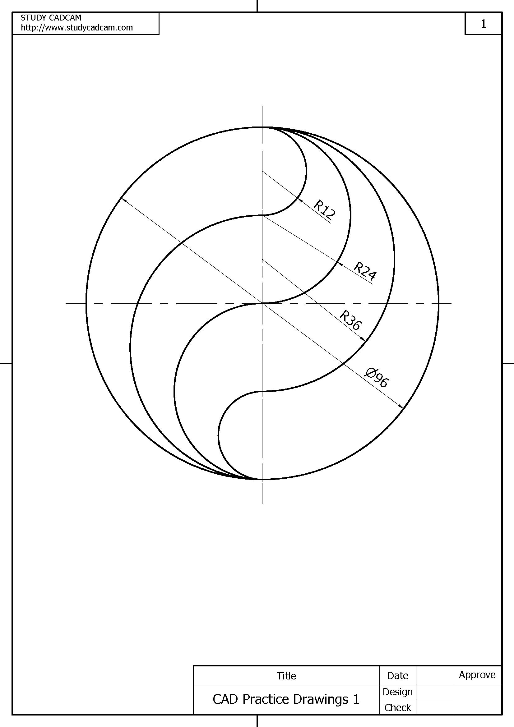 Pin En Cad Practice Drawings