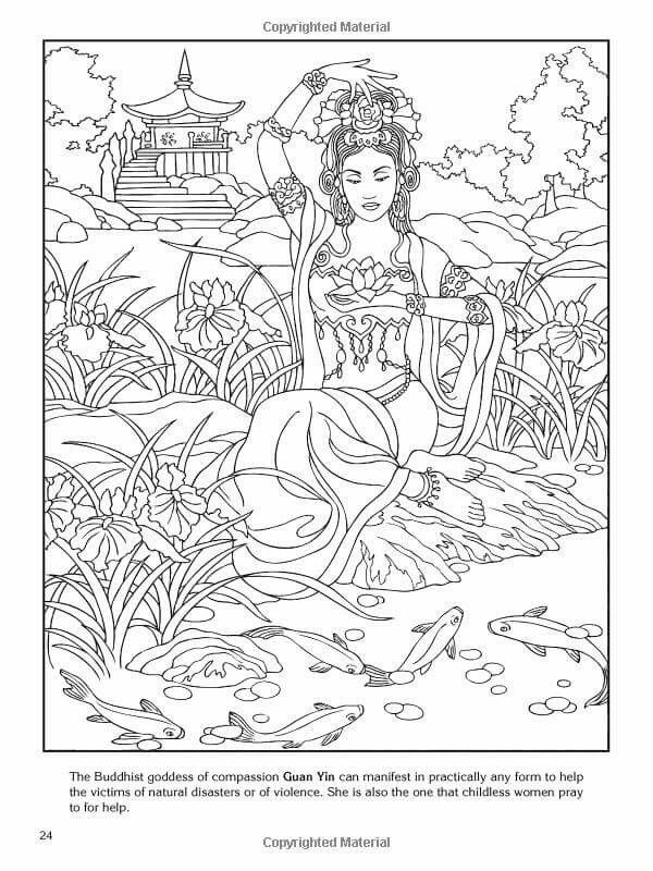 Buddhist Goddess Coloriage Inde Coloriage Coloriage Zen