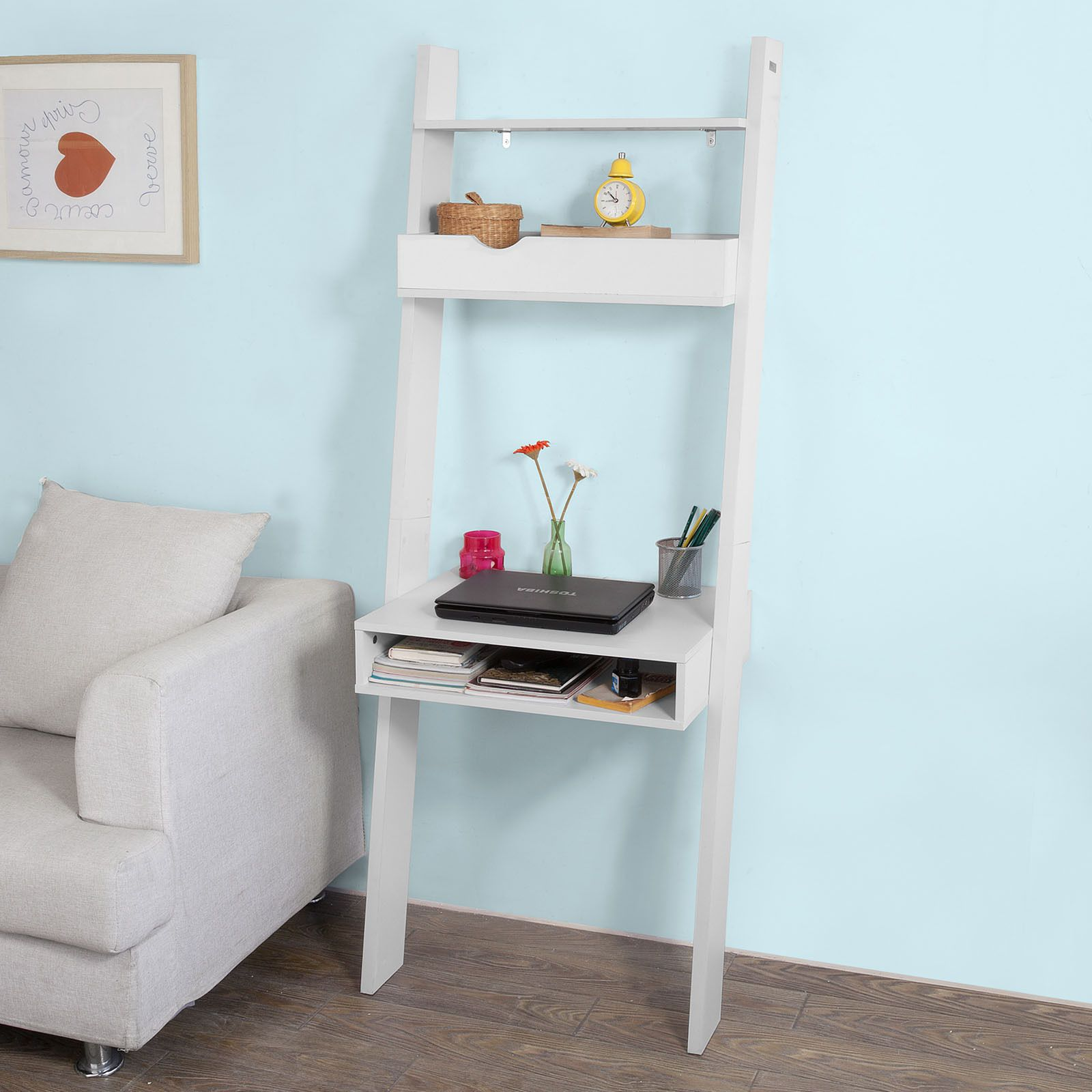 SoBuy Wall Storage Shelving Unit with Drawer