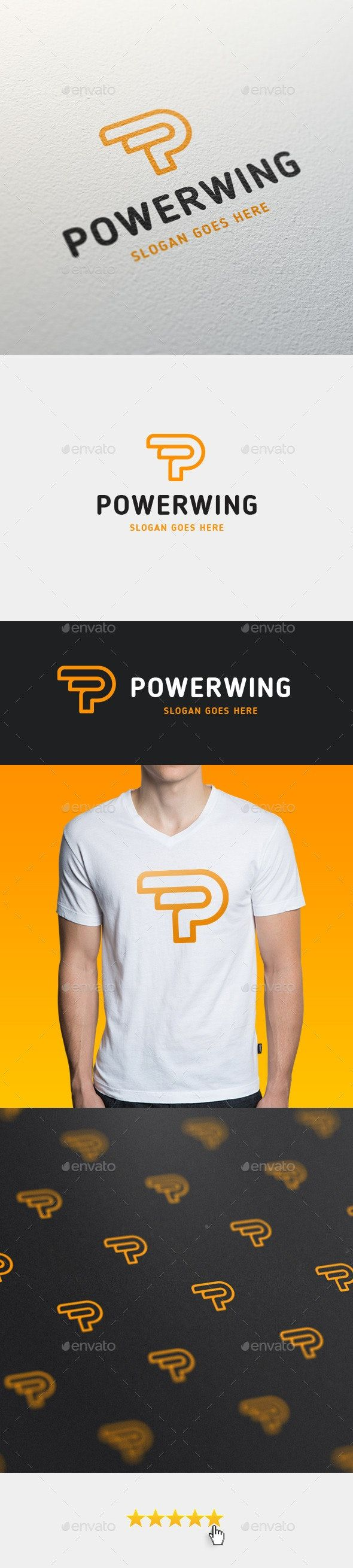 Powerwing • Letter P Logo Template