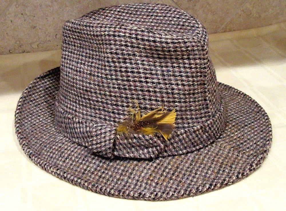 44d5d581db903 Vintage KEVIN MCANDREWS Mens Fedora Hat Harris Tweed Wool Scotland - Sz 7  1 8  5  fashion  clothing  shoes  accessories  mensaccessories  hats (ebay  link)