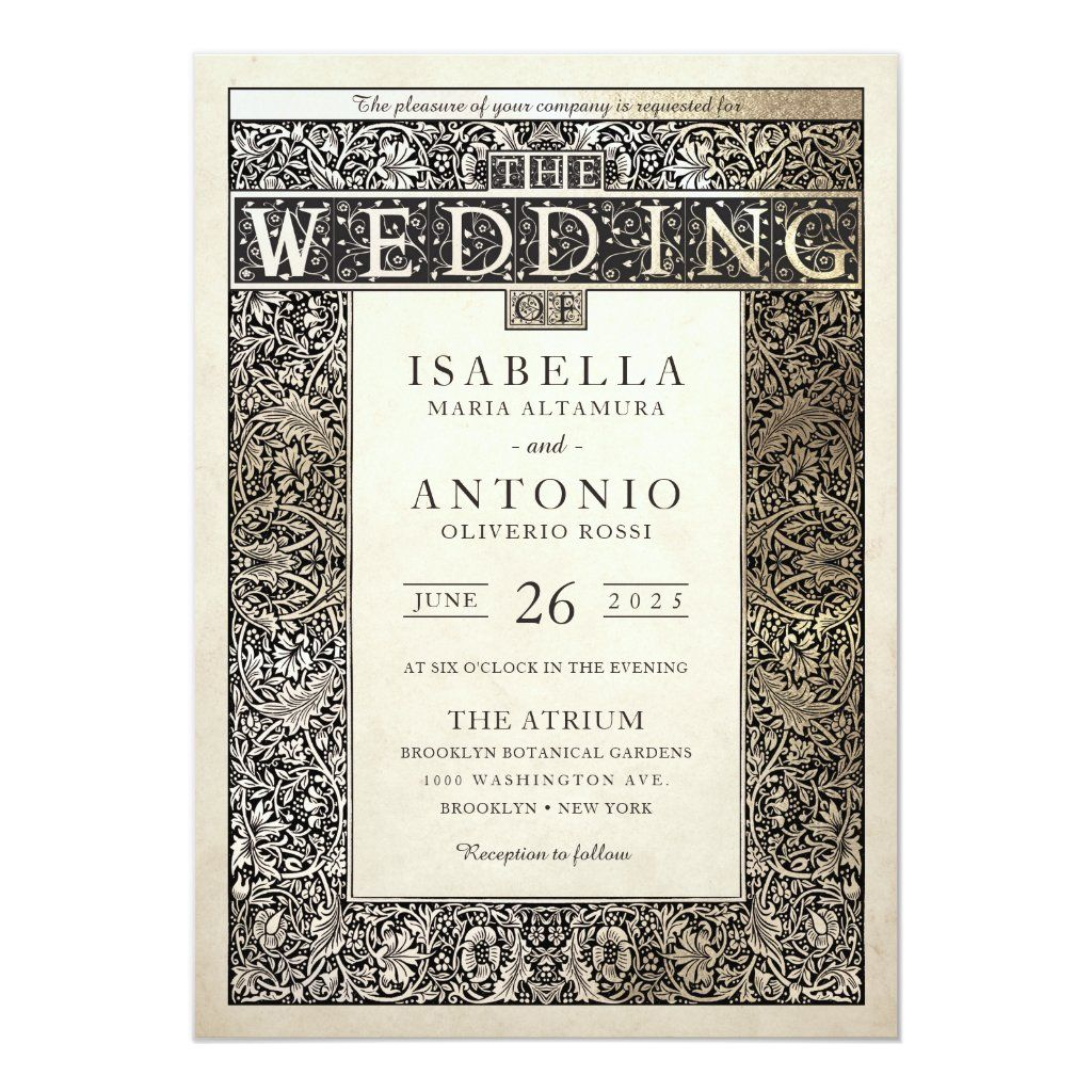 Wedding Invitations Champagne Ivy Collection