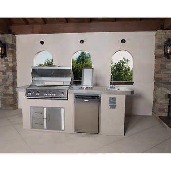 Urban Islands 5 Burner 9 Outdoor Kitchen Island By Bull Outdoor Products Outdoor Kitchen Countertops Small Outdoor Kitchens Modular Outdoor Kitchens