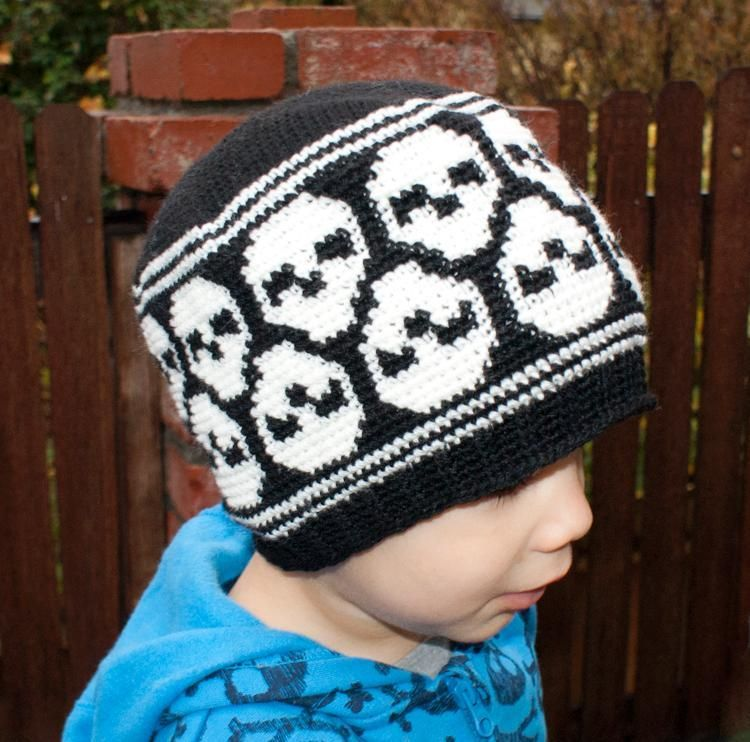 All Ages Super Skull Beanie (crochet) | Häkelanleitung