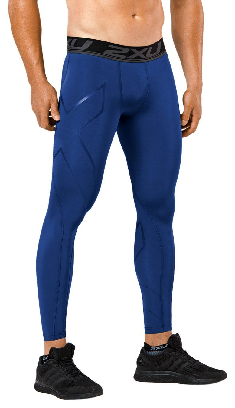 ce10705c27 2XU Men's LKRM Compression Tights, Navy, Medium. Features: colored  compression with same