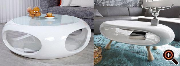 couchtisch weiß hochglanz - designer tisch für das moderne ... - Tisch Für Wohnzimmer