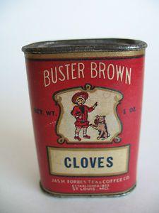 Buster Brown Spice Tin Vintage Tins Spice Tins Tin