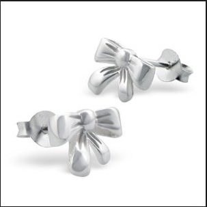 bow shaped baby earring