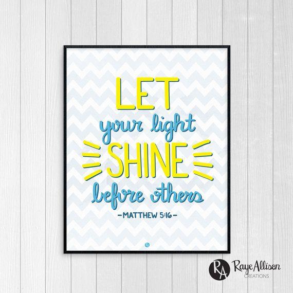 bible verse printable let your light shine before others printable art matthew bible verse. Black Bedroom Furniture Sets. Home Design Ideas