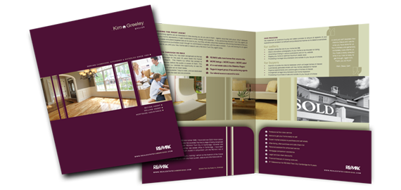Contemporary Marketing Brochures  Project Custom Agent Identity