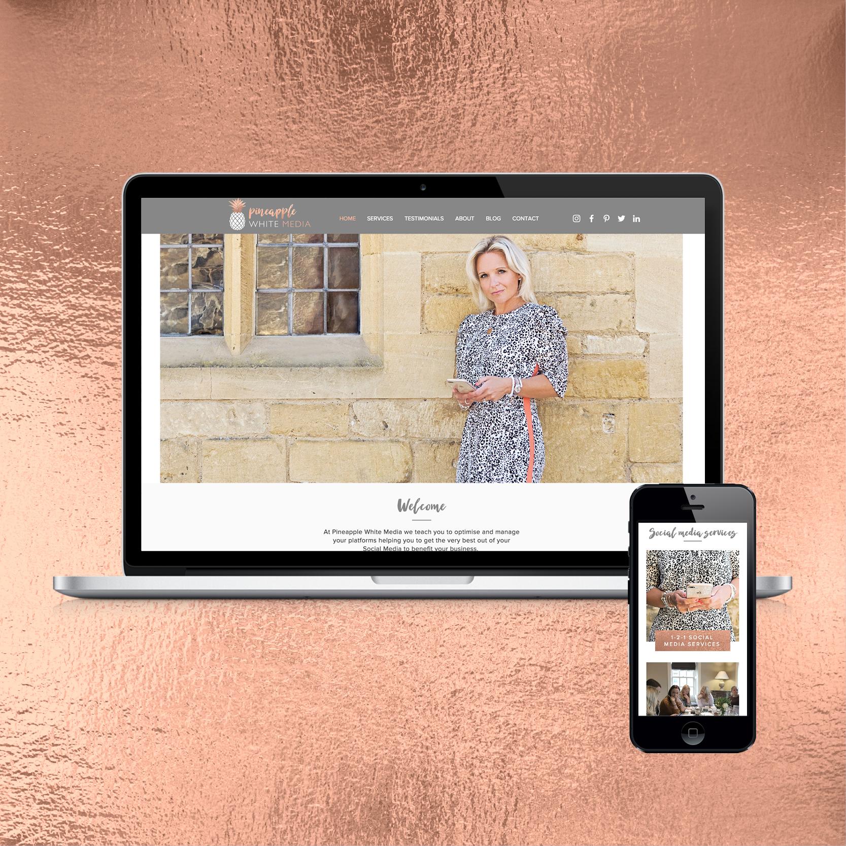 A Website Designed By Rogue Design Cheltenham For Pineapple White Media Social Media Train Social Media Coaching Social Media Training Social Media Consultant