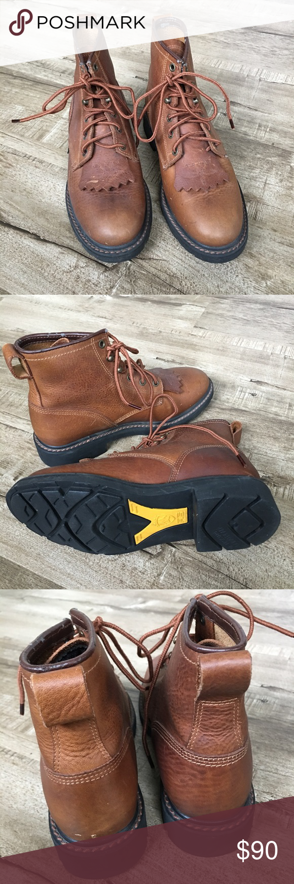 New Ariat Leather Western Barn Paddock Boots 7.5 | Boots ...