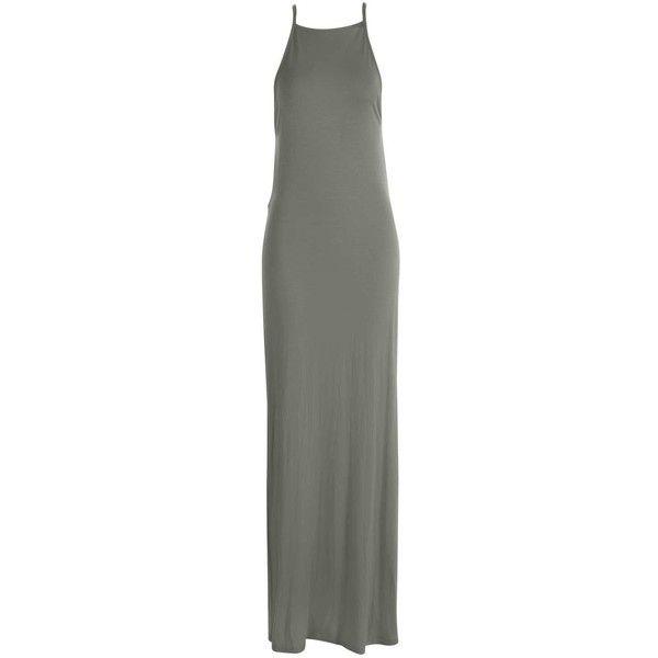Boohoo Eliza Back Detail Maxi Dress | Boohoo (160 SEK) ❤ liked on Polyvore featuring dresses, maxi length dresses, back detail dress, back detail maxi dress and maxi dress