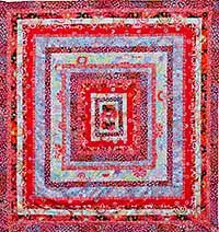 This Quilt Is A Colorful Version Of The Stone Log Cabin Quilt Featured In Kaffe S Quilts In Italy You Must Quilts Kaffe Fassett Quilts Log Cabin Quilt Pattern
