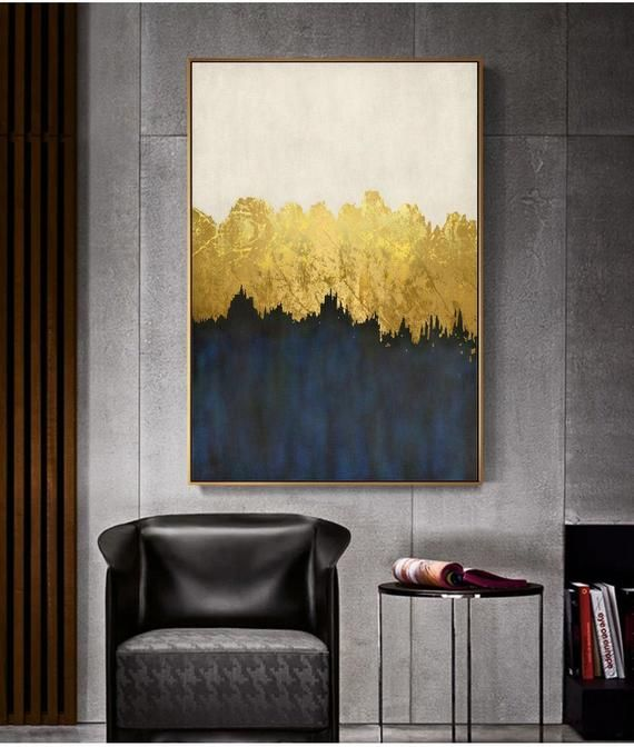 Abstract Gold Mixed Modern Canvas Art Classic Design Etsy Modern Canvas Art Canvas Art Abstract