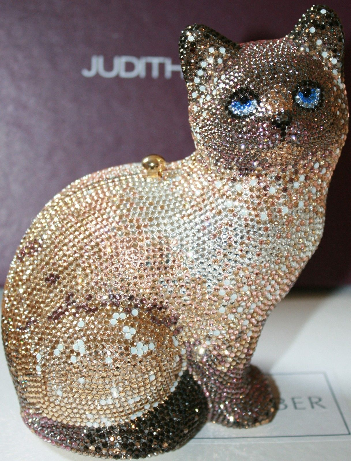 Judith Leiber Siamese Cat Kitten Tabitha Swarovski Crystals Handbag Bag Cats And Kittens Dinosaur Stuffed Animal Siamese Cats