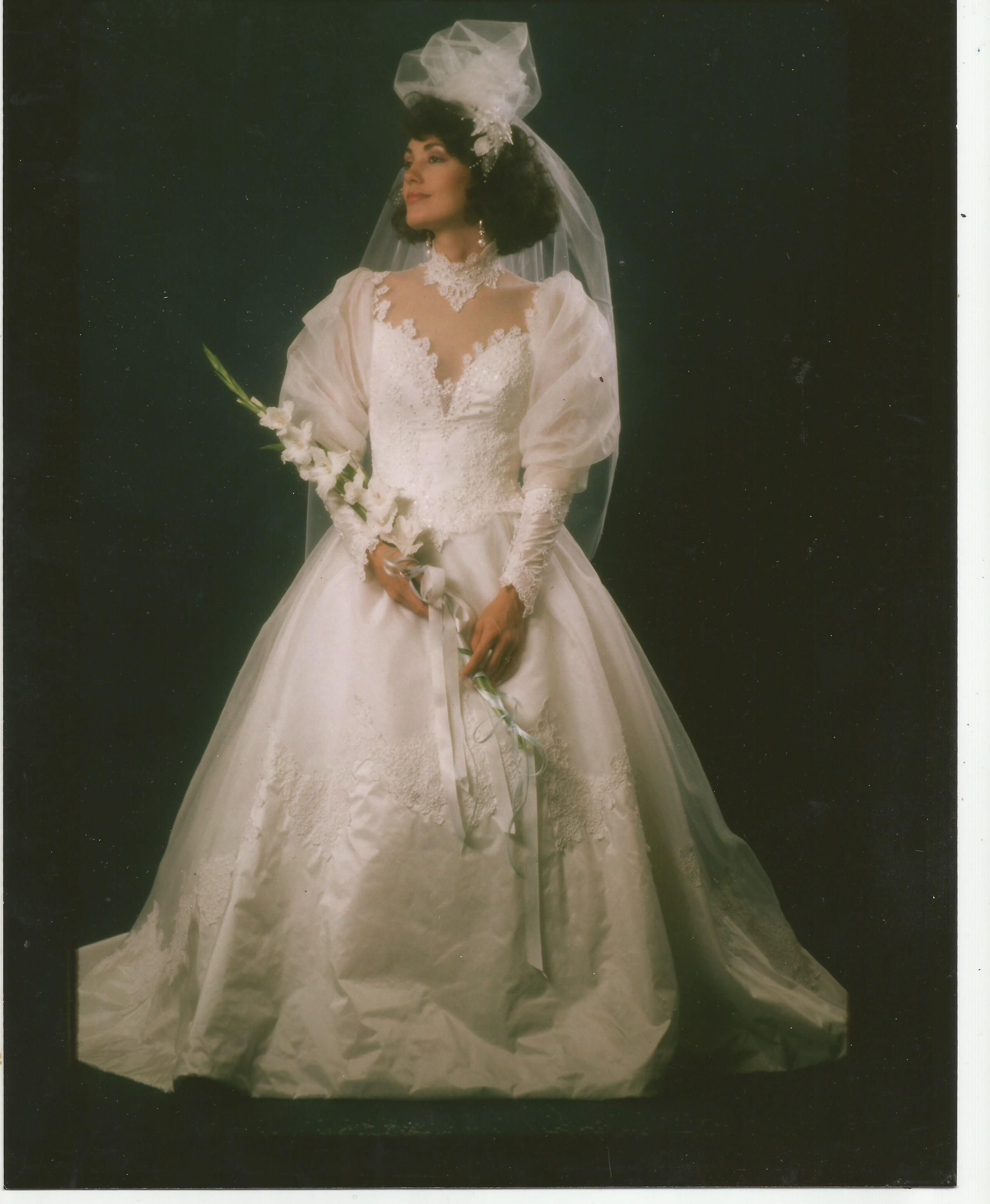 Tbt Throwback Wedding Dress I Made From The Late 80 S Early 90 S Wedding Dresses Vintage Dramatic Wedding Dress 90s Wedding Dress