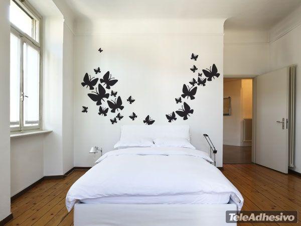 adesivi murali kit farfalle