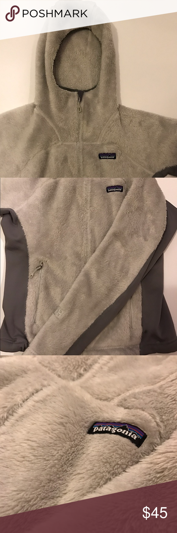Patagonia fur zip up Extremely cozy faux fur zip up by Patagonia. Very warm and soft- wear as a primary jacket or layer underneath for additional warmth. The hood is great as well because it stays secure on your head and provides additional insulation when needed. Small blemish (pictured) on the right side Patagonia Tops Sweatshirts & Hoodies
