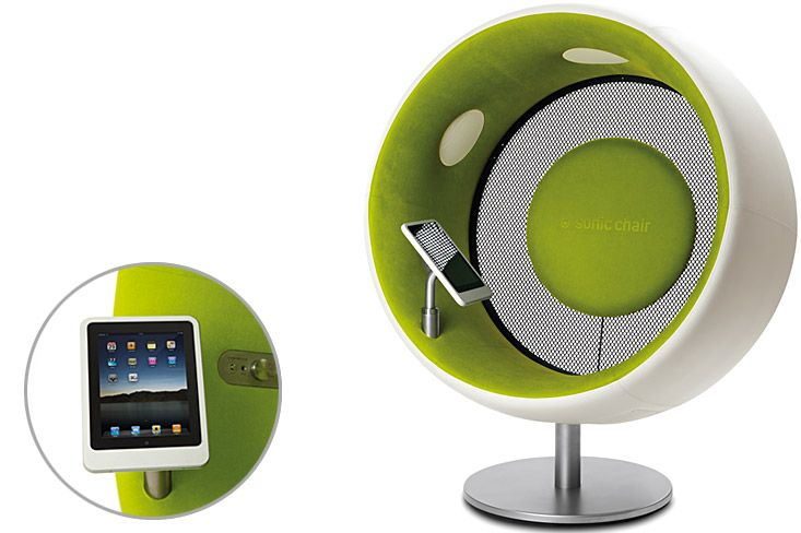 Sonic Chair this is a speaker chair with a built in i want it
