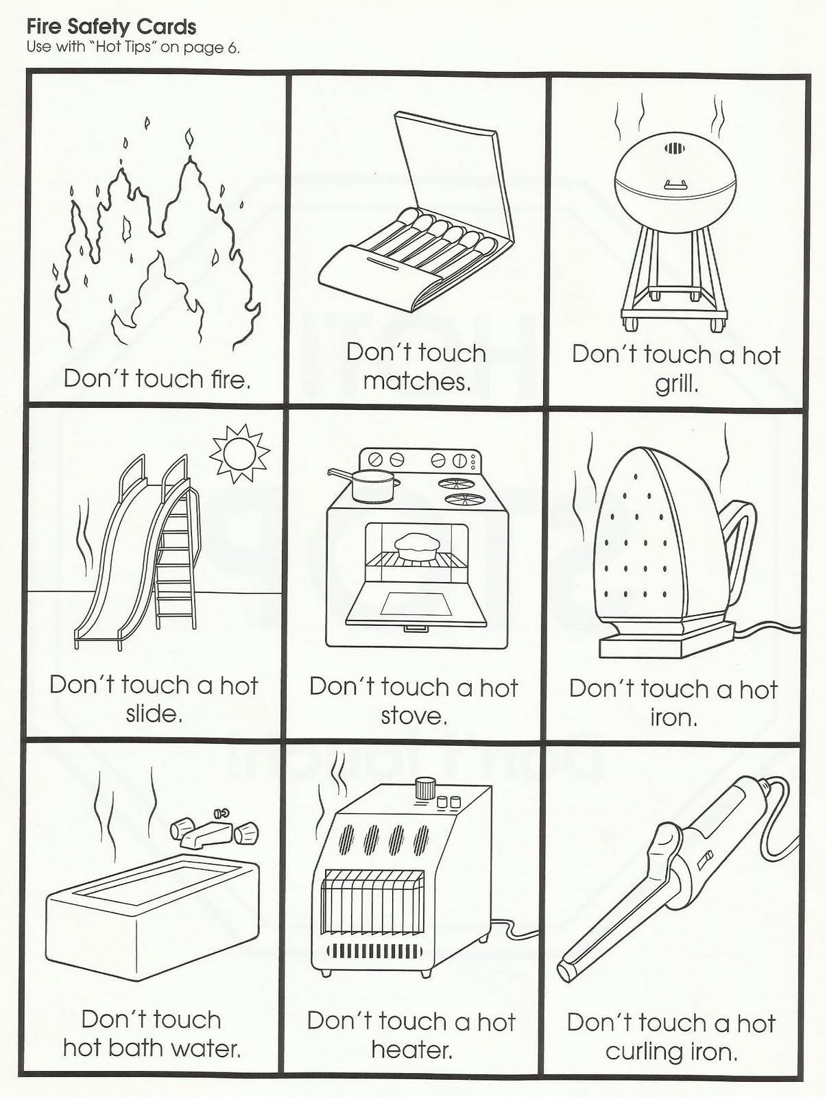 Free Printable Fire Safety Worksheets Fire Drills