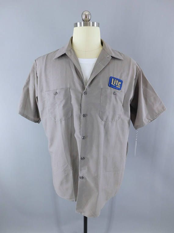 bbbb776e Miller Beer / Delivery Man / Gray XL Short Sleeve / Work Shirt / Lite Beer  / Beer Patch / Patches #MillerHighLife #BeerDelivery #MillerBeer # DeliveryMan # ...