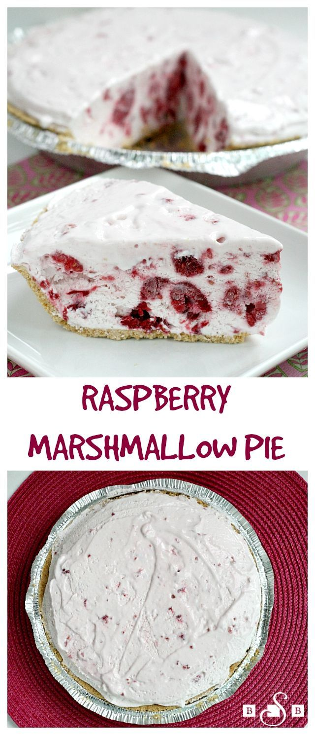 Raspberry Marshmallow Pie - Butter With a Side of Bread #marshmallow