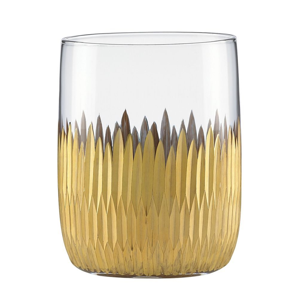 Marchesa By Lenox Imperial Caviar Gold Double Old Fashioned Glasses Set Of 2 Dof Glass Glasses Fashion Beautiful Bars