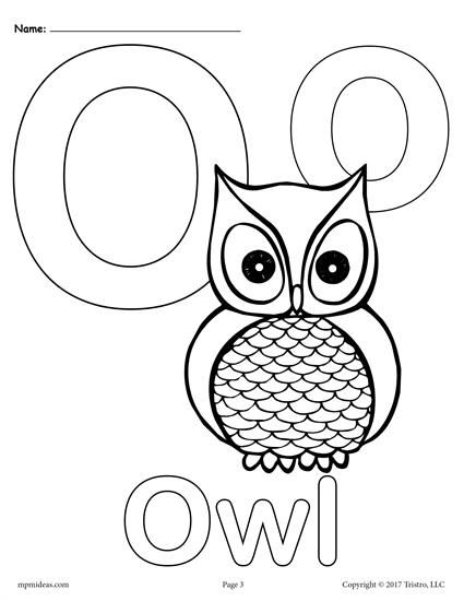 FREE Printable Uppercase And Lowercase Letter O Coloring Page Worksheets Like This Are Perfect For Toddlers Preschoolers Kindergartners