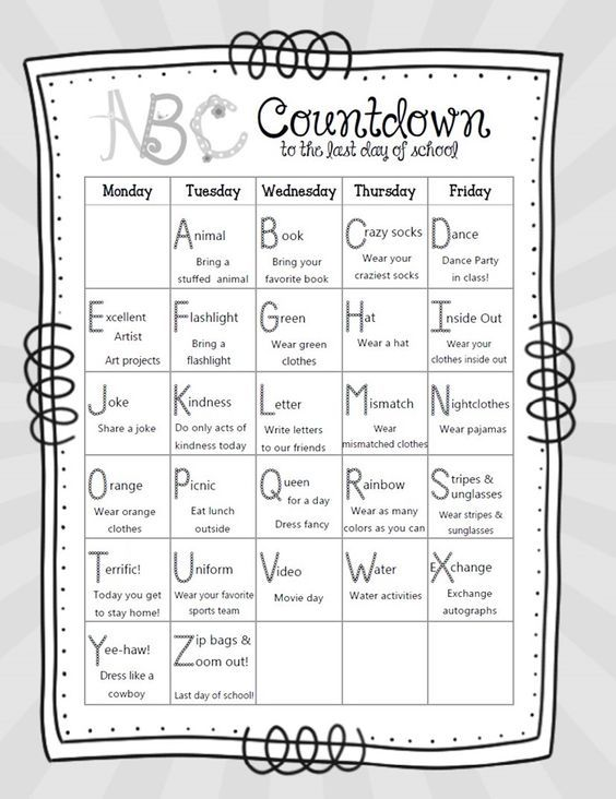 14 alphabet countdown calendars here comes the end of the year rh pinterest com