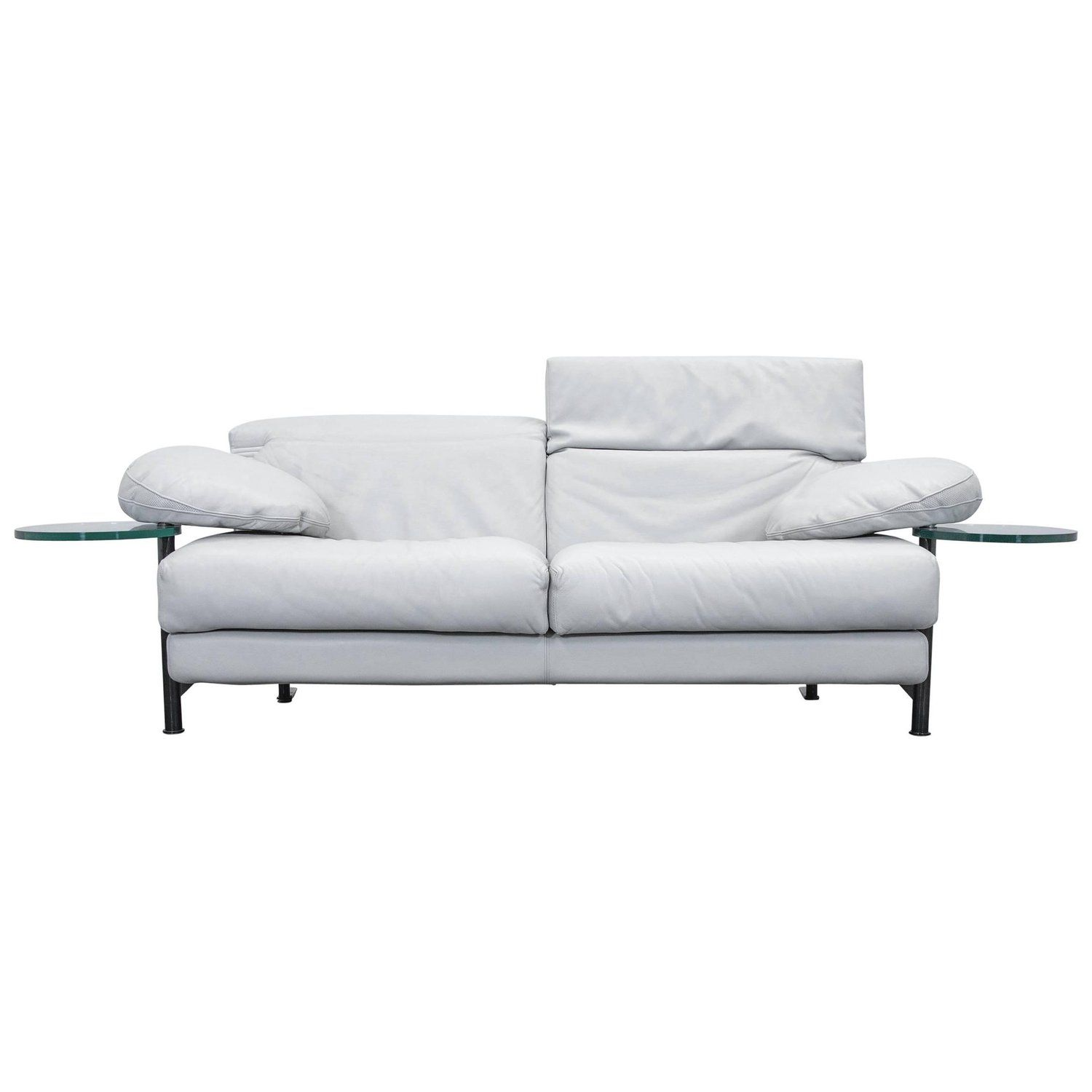 b b italia arca paolo piva designer sofa grey leather three seat rh pinterest com
