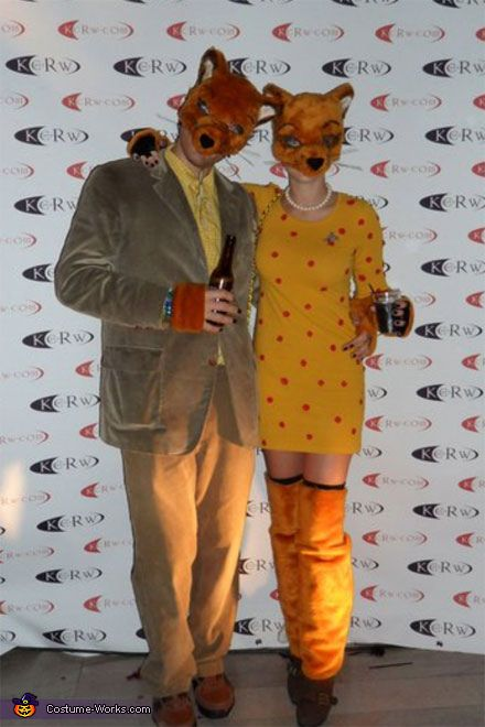 Mr Fox and Mrs Fox - Homemade costumes for couples